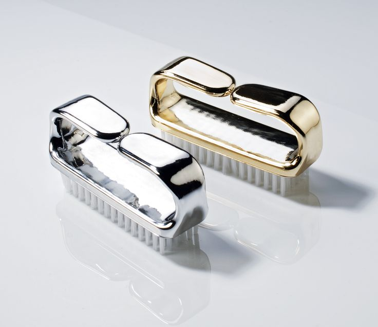 silver and gold nailbrushes from decor walther bathroom