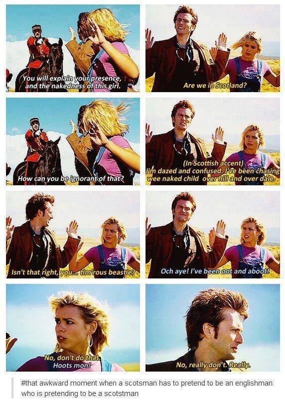 A Scott pretending to be an Englishman pretending to do a Scottish accent. :)