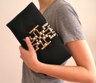 Bright Studded Clutches
