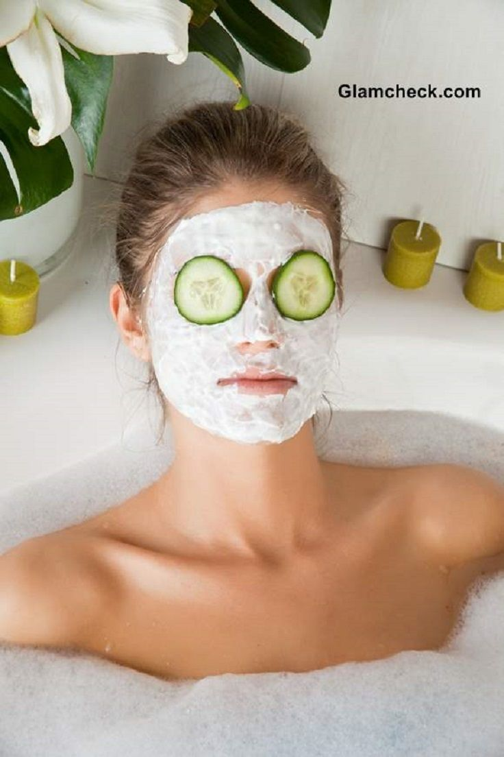 Cucumber Oatmeal Face Mask:  Blend together one half of a cucumber, 2 tbsp ground oatmeal, lemon juice and honey, apply the mixture on a clean skin and relax for 15 minutes.