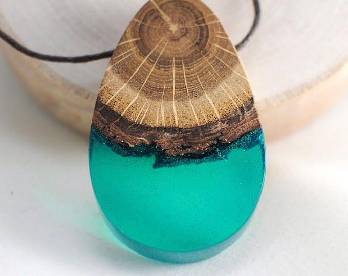 M s de 25 ideas incre bles sobre collar de madera en for Resina epoxi madera