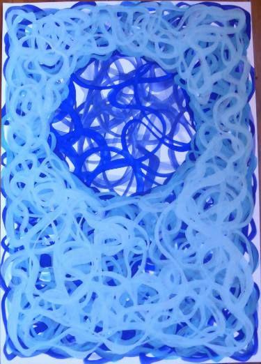 "Saatchi Art Artist Michel Le Goff; Painting, ""Turquoise Fusion"" #art"