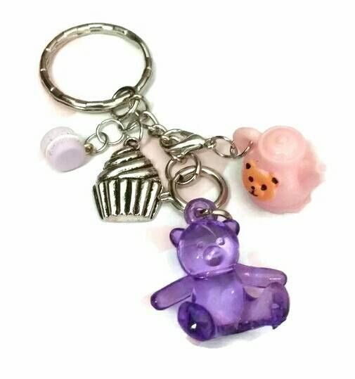 Check out this item in my Etsy shop https://www.etsy.com/ca/listing/547670647/teddy-bears-picnic-keychain-purple-gummy