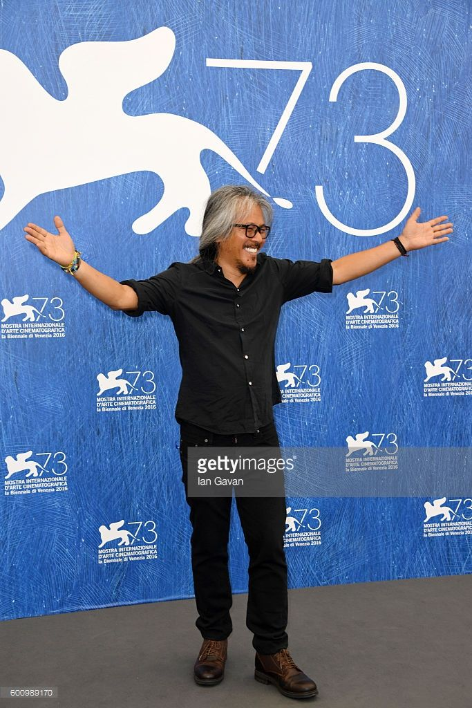 Director Lav Diaz attends a photocall for 'The Women Who Left' during the 73rd…