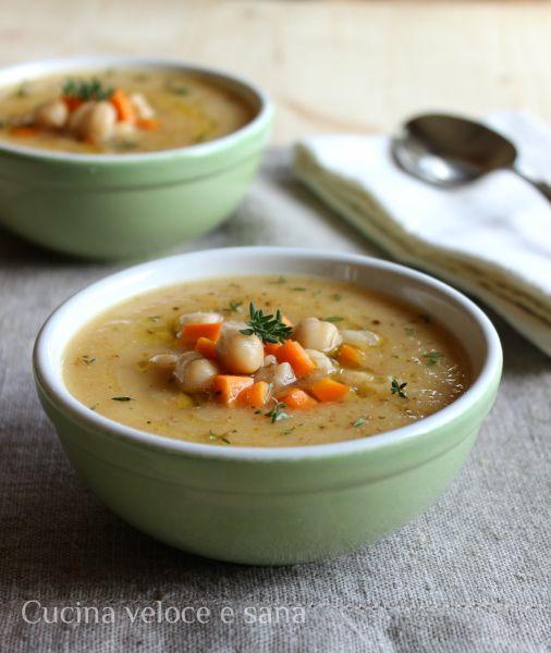 Zuppa di ceci, topinambur e carote