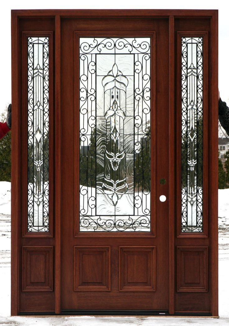 25 best ideas about exterior doors with glass on for Black wooden front door