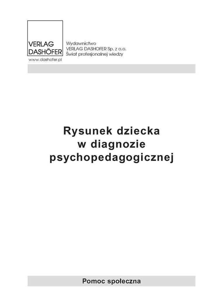 """Rysunek dziecka w diagnozie psychopedagogicznej / Praca zbiorowa  Ebook """"Rysunek dziecka w diagnozie psychopedagogicznej"""" wyjaśnia, jak interpretować rysunki dzieci, poradnik przeznaczony jest dla pedagogów i psychologów.  Publikacja """"Rysunek dziecka w diagnozie psychopedagogicznej"""" zawiera studium przypadku, w którym podano poprawnie przeprowadzoną analizę psychologiczno-pedagogiczną."""