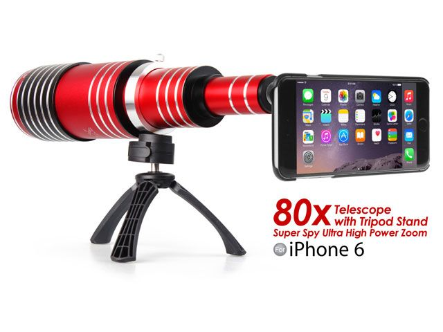 Portable Telescope Adds 80X Optical Zoom to Your iPhone 6 | This particular model is compatible with the iPhone 6 exclusively, but Brando also makes other models that play nicely with Samsung's Galaxy line.
