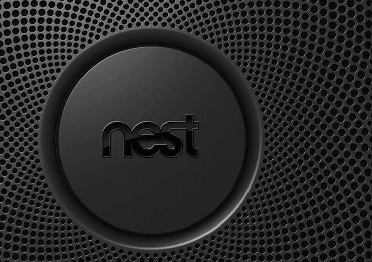 Nest smoke alarm, plastic, black, mesh