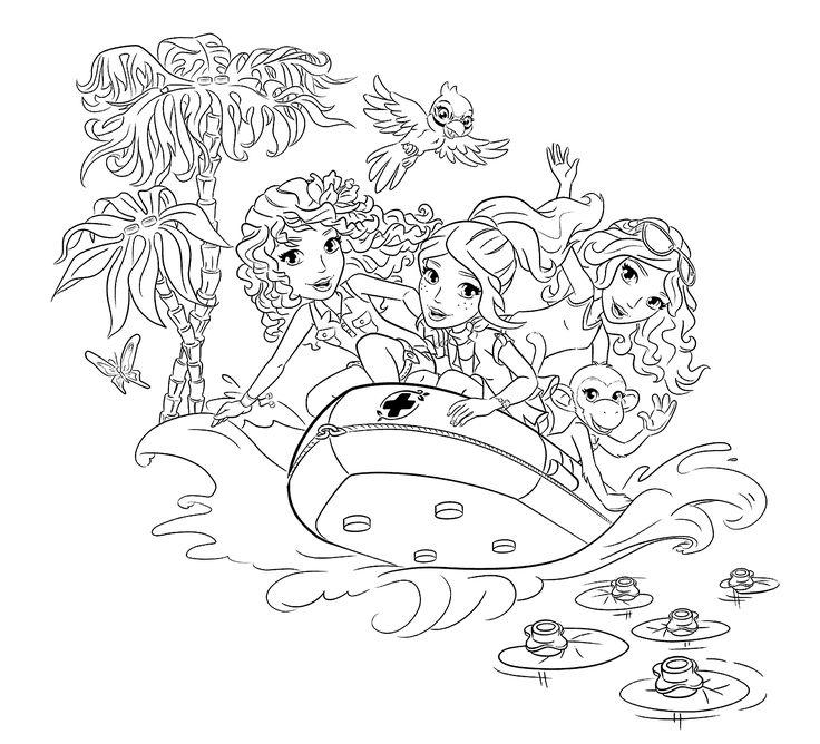 12287 best Inkleur images on Pinterest Coloring books, Coloring - best of lego friends coloring in pages