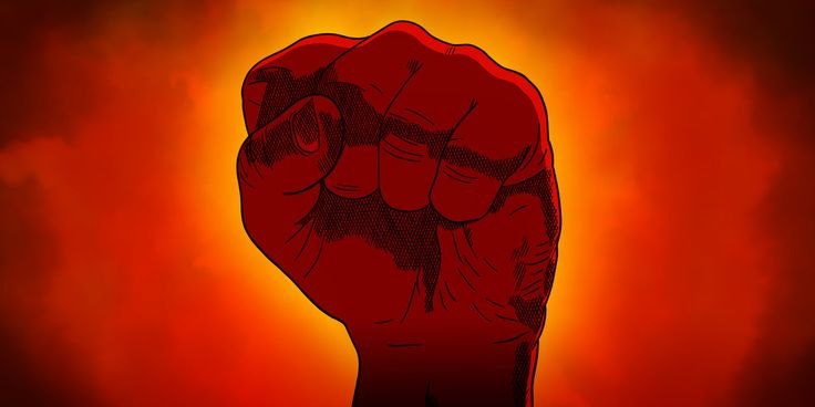 Inktober #29 - UNITED The raised fist is an ancient symbol - the act of strengthening the relatively vulnerable individual finger digits into a solid fist is a universal experience. Synonymous with worker's rights, black power, feminism, communism,...