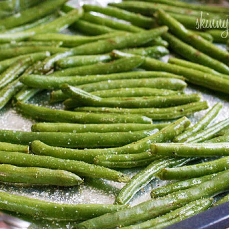 Roasted Parmesan Green Beans Recipe @Jackie Godbold Godbold Godbold Vaccarello veggie option?