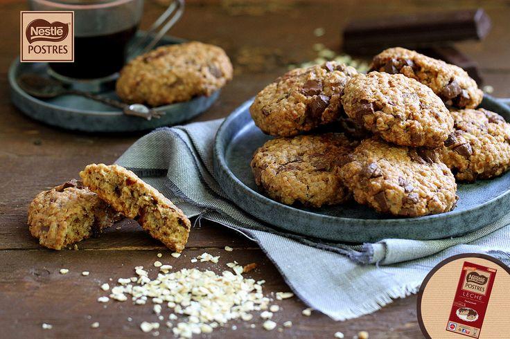 Cookies de avena y chocolate con leche