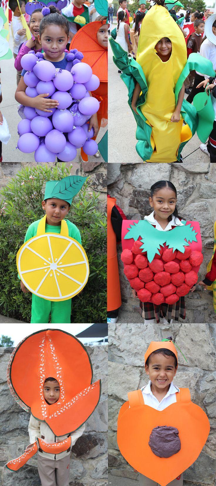 Disfraz de frutas.