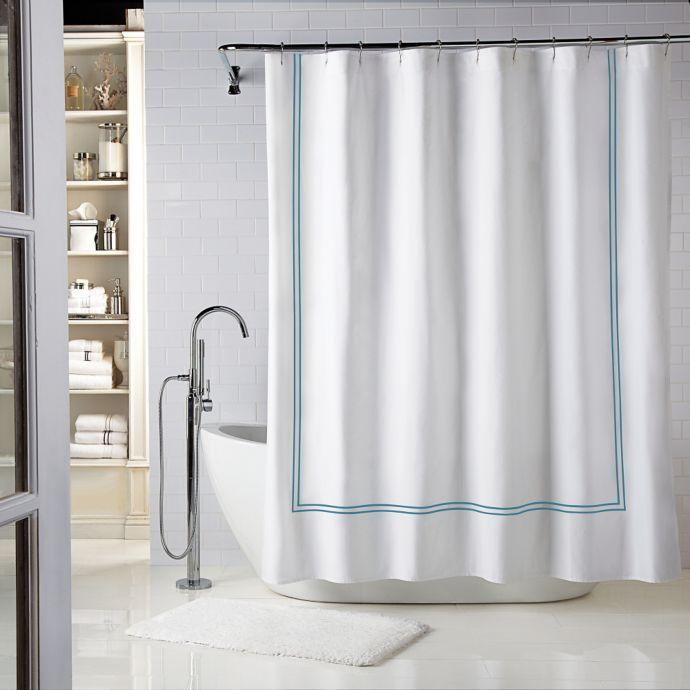 Wamsutta Baratta Stitch Shower Curtain Personalized Shower