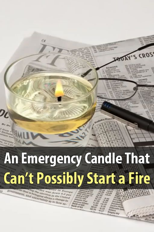 Safer Emergency Candles can't start a fire since they were designed