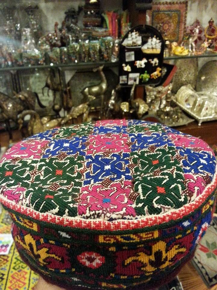 cap to ware for women in hunza with deep hard needle work