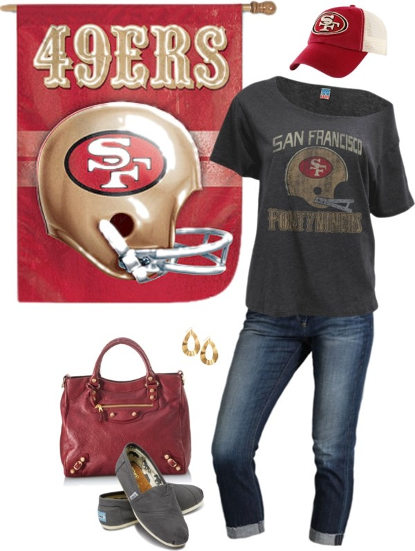 """""""49ers Game Day Outfit"""" by maria-garza on Polyvore"""