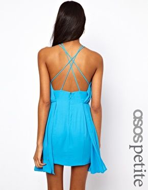 Aquamarine Dress With Cross Front Get 7% cash back at http://www.studentrate.com/all/get-all-student-deals/ASOS-Student-Discount--/0
