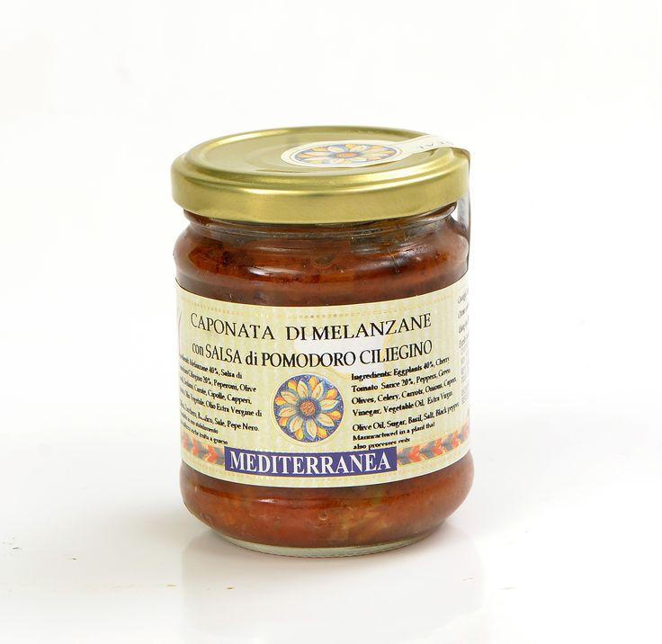 Caponata di Melanzane con Salsa di Pomodoro Ciliegino -  Caponata of Eggplants with Sauce of Cherry Tomato