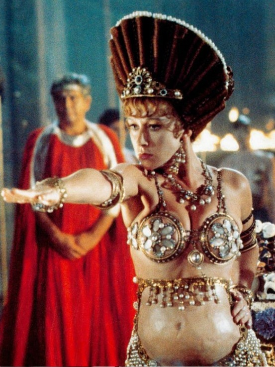 The racy 1976 film Caligula starred Helen Mirren in some highly dubious maternity wear. #actor #still