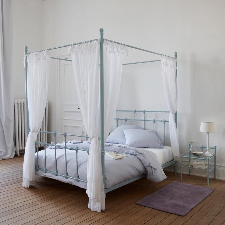 32 best baldaquins images on pinterest canopy beds bedrooms and 3 4 beds - Lit baldaquin 140x190 ...