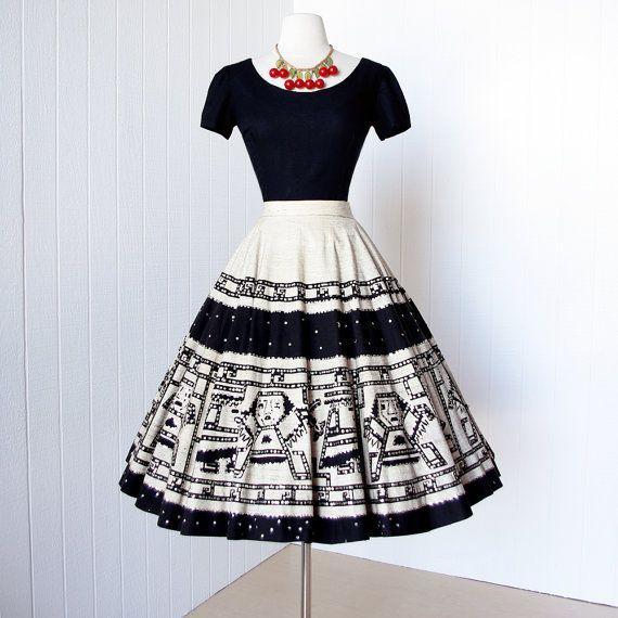Черно-белые винтажные платья. (8 фото)