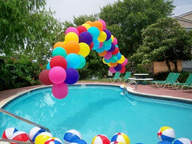 fiesta nios fiestas infantiles piscinas fiesta hawaiana arco cuidado cumple amigos