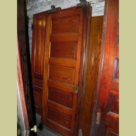 ANTIQUE PAIR(S) OF PINE 5 RAISED HORIZONTAL PANEL POCKET DOORS A really nice - 49 Best Pocket Doors Images On Pinterest Sell Antiques, Bungalow
