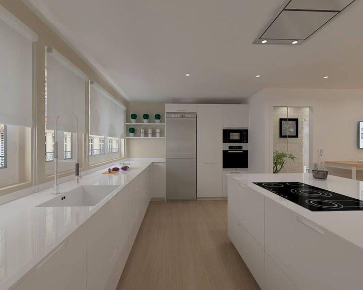 SANTOS kitchen | Diseño de cocina Karmel con encimera de Silestone. Proyecto de Docrys Cocinas http://www.cocinassantosdc.com/