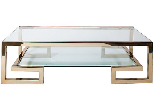 One Kings Lane - Coleen Rider - Vintage Brass Coffee Table