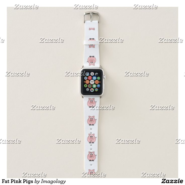 Fat Pink Pigs Apple Watch Band #pig #apple #watch