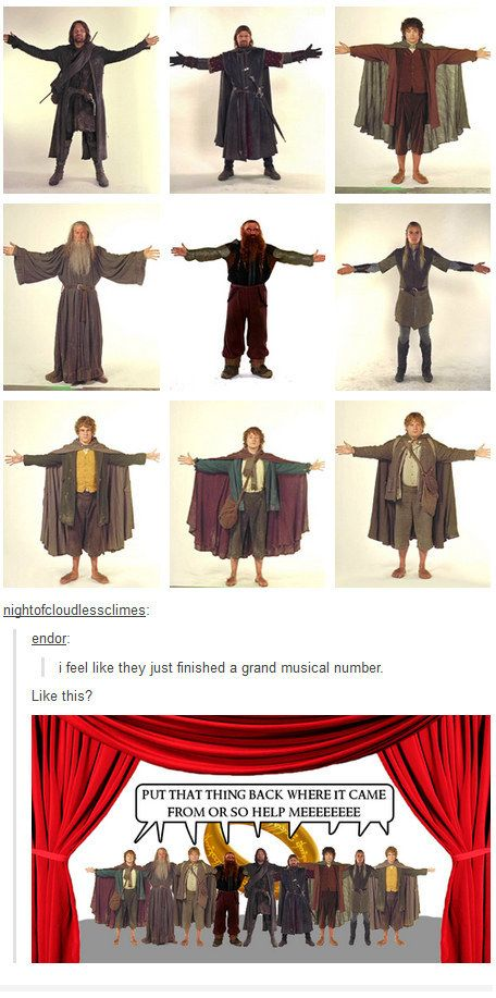 """When they put the Fellowship in a musical. 