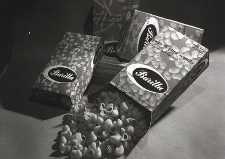 Barilla's trademark packaging in the early 1900s.