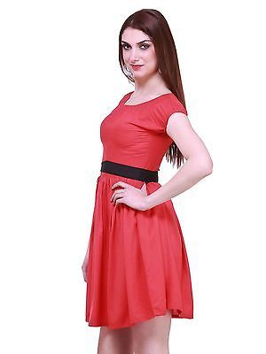 Red Colored Shift Dress