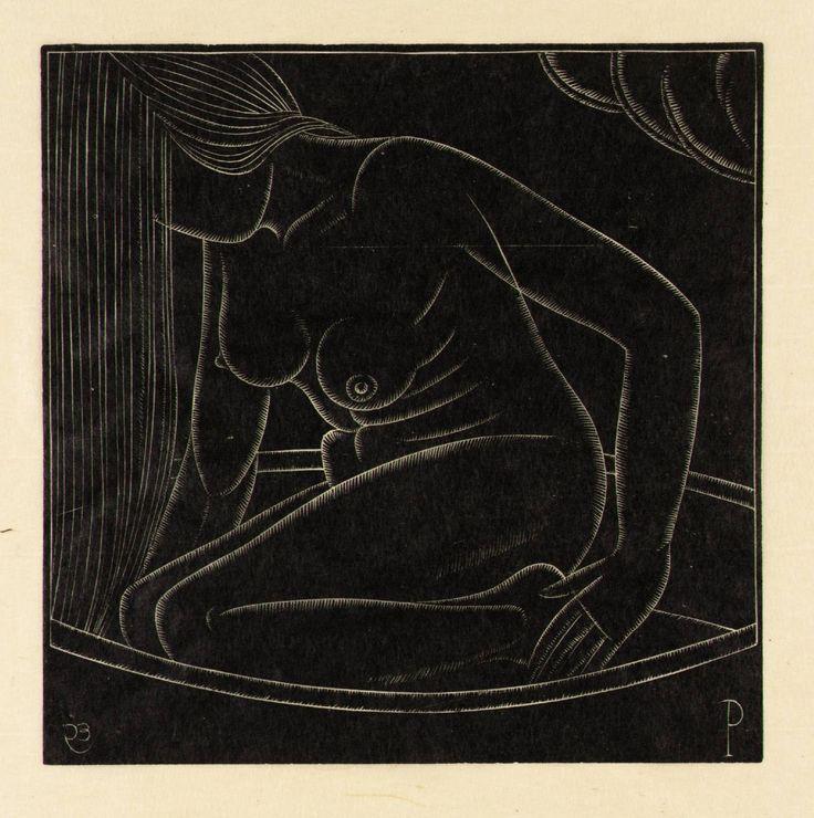 Eric Gill, 'Girl in Bath: II' 1923