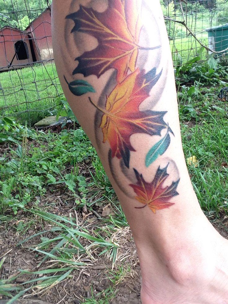 Fall tree tattoo
