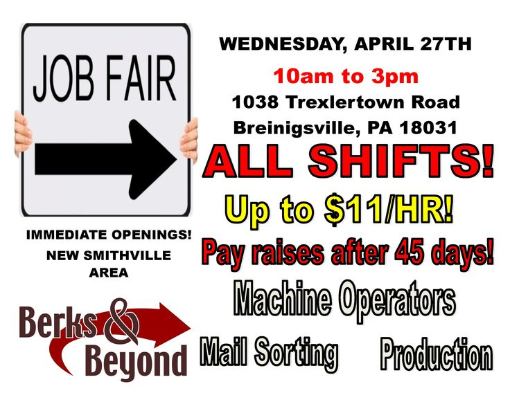 Superior Berks U0026 Beyond Is Hosting A Job Fair Wednesday, April At Its Breinigsville  Office For Mail Sorters/Machine Operators At A Direct Mail Marketing  Company ...