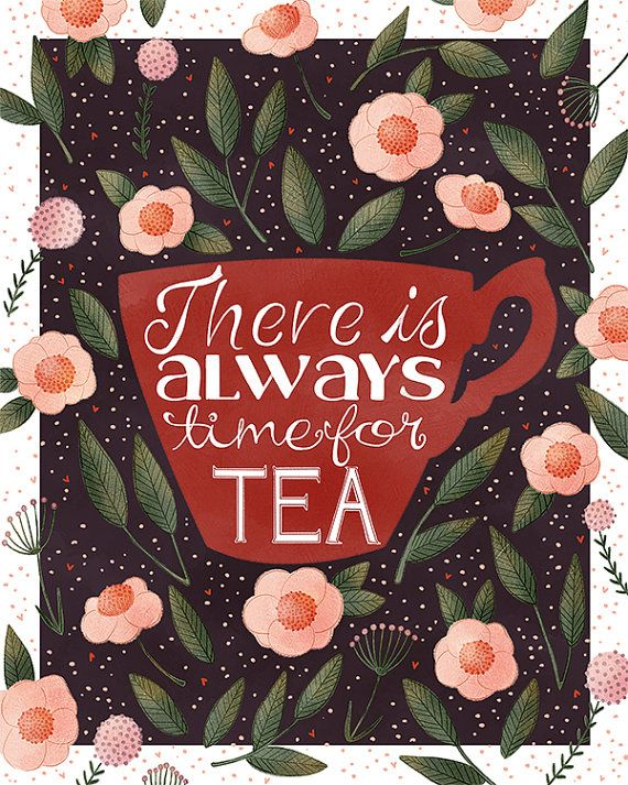 There is Always Time For Tea | TheFoxandTheTeacup, Etsy