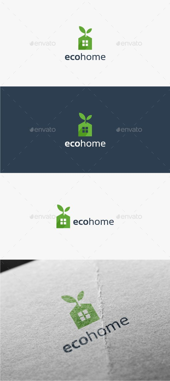 Eco Home  Logo Design Template Vector #logotype Download it here:  http://graphicriver.net/item/eco-home-logo-template/11516278?s_rank=1686?ref=nexion