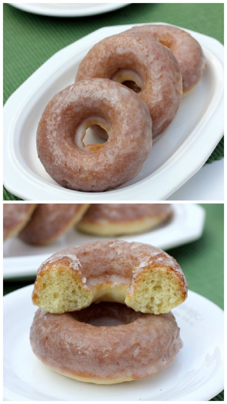 An Old Fashioned Sour Cream Donut Recipe baked in the oven then glazed. These are the BEST!