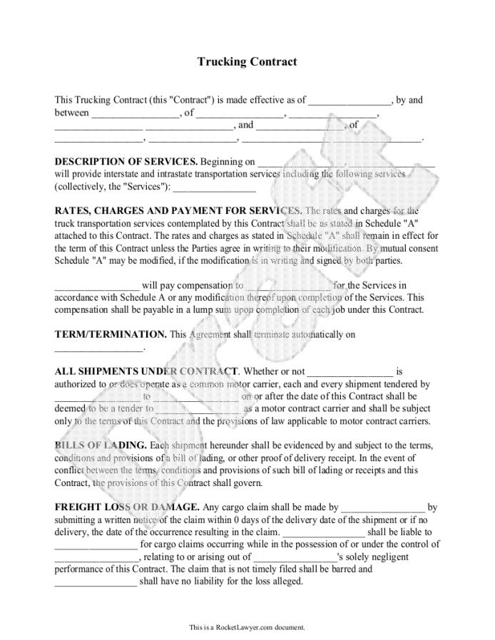 Get Our Sample Of Truck Driver Subcontractor Agreement Template For Free Contract Agreement Contract Template Contract