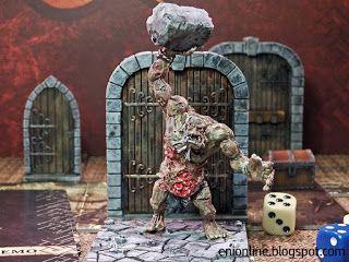 Servi del Male - Dungeon saga painted miniatures ~ Enionline Alternative Worlds #trll #dungeonsaga #28mm #fantasy #miniature #painting
