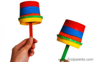 Let's make a band - Festive Maracas......Make the instrument, decorate it then play in the band!