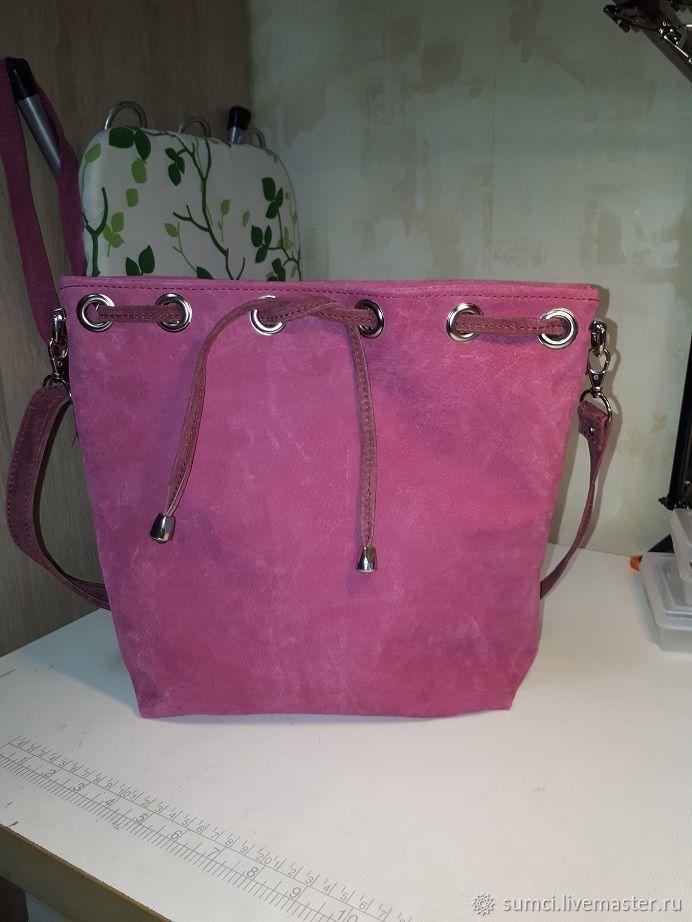 9dbbee95a720 сумочка-мешок натуральная замша – купить в интернет-магазине на Ярмарке  Мастеров с доставкой