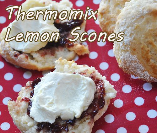 Thermomix lemon scones