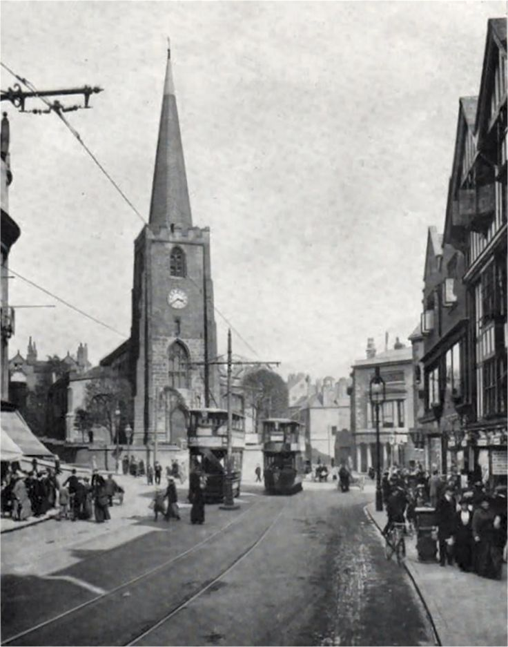 St Peter's and Wheeler Gate, Nottingham, c1910?