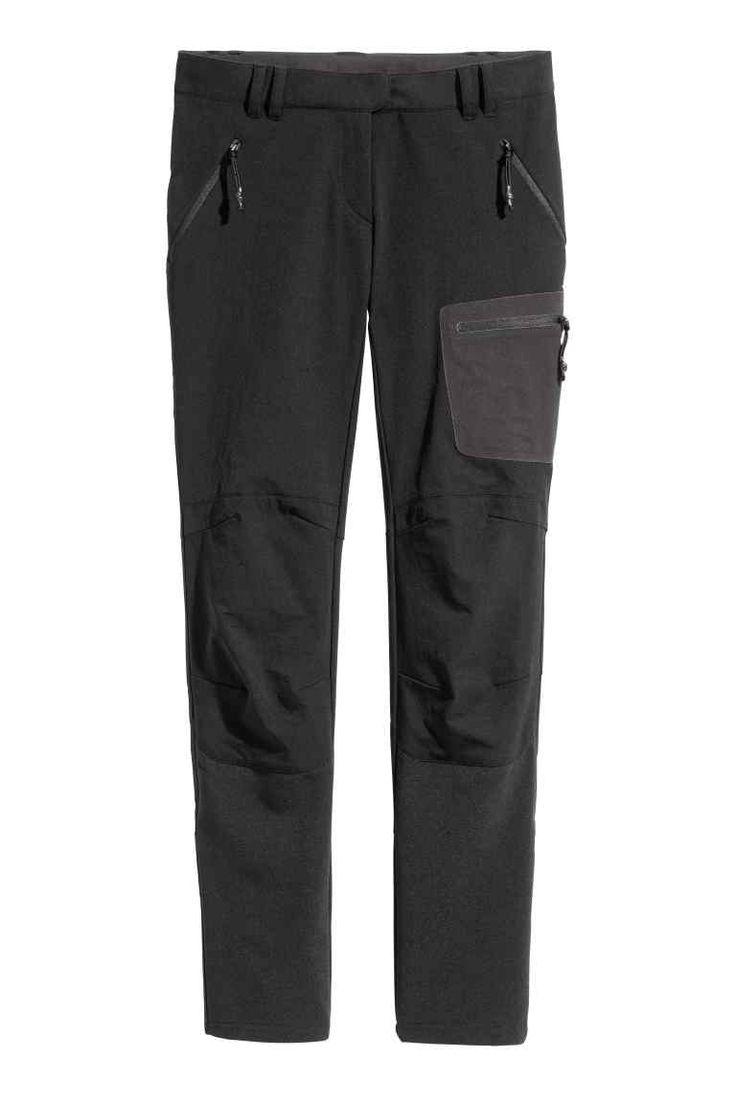Spodnie outdoorowe - Czarny - ONA   H&M PL
