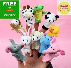 NEW 10X FARM ZOO ANIMAL FINGER PUPPETS TOYS BOYS GIRLS BABYS PARTY BAG FILLER 3.98 ebay