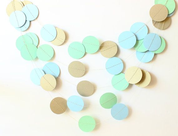 Mint Baby Shower Sea Wedding Wedding Garland by MailboxHappiness